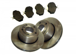 Discovery 2 Rear Brake Discs and Mintex Pad Set 98-04
