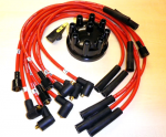 Range Rover Classic 8mm High Quality Red Double Silicone HT Leads, Dizzy Cap and Rotor 86-94