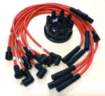 Range Rover Classic 8mm High Quality Red Double Silicone HT Leads and Dizzy Cap