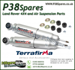 Range Rover Classic Rear Terrafirma Big Bore Expedition Standard Travel Shock Absorber 86-94 - x2