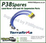 Land Rover Discovery 2 (With ABS) Terrafirma XTL +2 Inch Range Stainless Steel Braided Brake Hoses 94-98