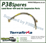 Land Rover Defender 90/110/130 (With ABS) Terrafirma +2 Inch Stainless Steel Braided Brake Hose Kit 99-04