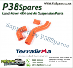 Land Rover Discovery 1 200/300TDi Terrafirma Orange Silicone Turbo & Intercooler Hose Pipe Kit
