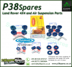 Range Rover P38 MKII Polybush 'Comfort' Blue Suspension bush kit 1995-2002