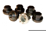Defender, Discovery 1 and Classic Steel Five Black Finish Locking Wheel Nut Kit & Key